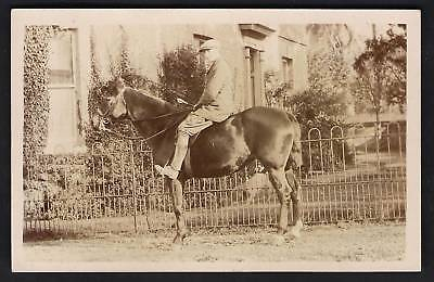 St Ives photo. Horse & Rider by F. Davis, St Ives.