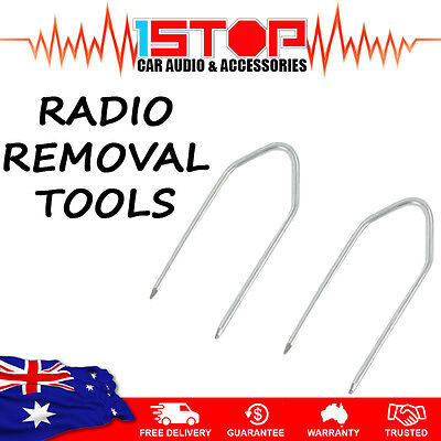 2 x RADIO REMOVAL TOOLS for HOLDEN ASTRA TS BARINA VECTRA car stereo pins keys
