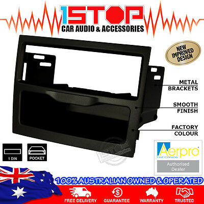 HOLDEN COMMODORE VY-VZ 2002-2007 BLACK SINGLE-DIN FACIA KIT fascia panel pocket