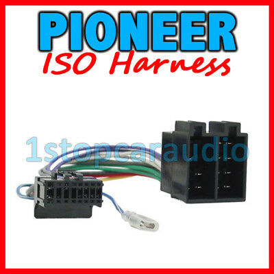 PIONEER ISO WIRING HARNESS connector lead loom wire SUITS MOST MODELS 2002-2009