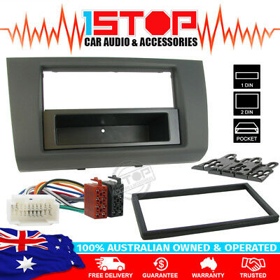 Suzuki Swift 2005-2010 Single/double Din Facia Fascia Kit + Iso Wiring Harness