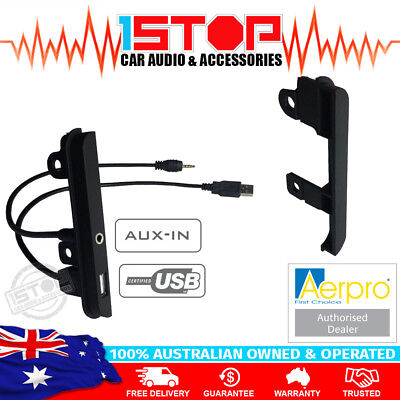 Toyota Double-Din Facia Fascia Side Trims + Usb & 3.5Mm Aux Auxiliary Input Kit