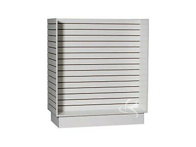 Slatwall unit white Knock down Display Store Fixture #SC-H-Unit/W