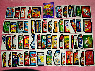 2010 WACKY PACKAGES ALL NEW SERIES 7 {ANS7} Complete 55 Sticker Card Set + MORE!