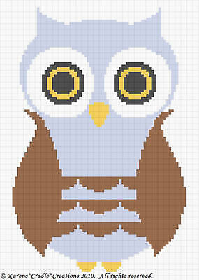 Crochet Patterns - OWL Baby Boy Afghan Pattern *EASY