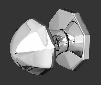 Polished Chrome Centre Door Knob on Rose JV49PC