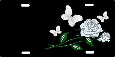 *license Plates - Butterfly Roses - Personlized Free
