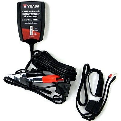 New Yuasa 12V 1Amp Automatic Battery Charger Maintainer