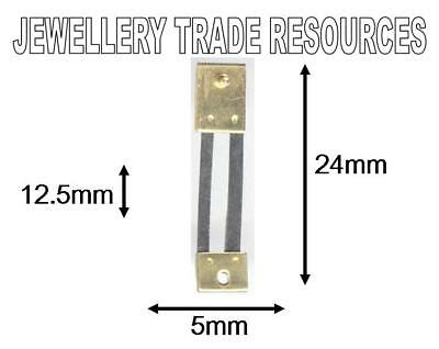 CLOCK SUSPENSION SPRING TOP QUALITY STEEL BRASS 24mm long 5mm wide