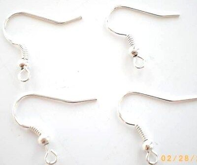 200 (100 Pairs) x 18mm Silver Plated Earwires Lead & Nickle Free