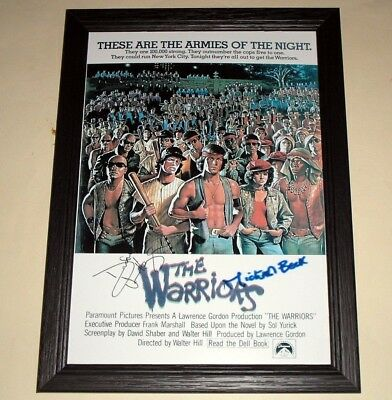"The Warriors Signed & Framed 12X 8"" Poster Michael Beck"