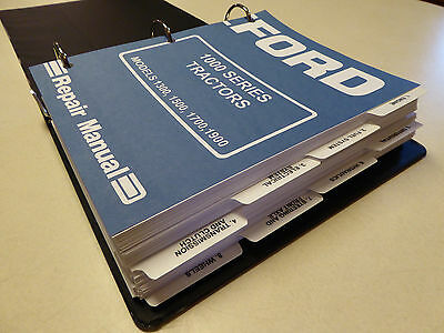 Ford 1300, 1500, 1700, 1900 Tractor Service Manual Repair Shop Book NEW w/Binder