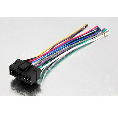 Sony Car Stereo Radio Wire Wiring Harness Connector universal female iso wiring harness car stereo adapter connector  at virtualis.co