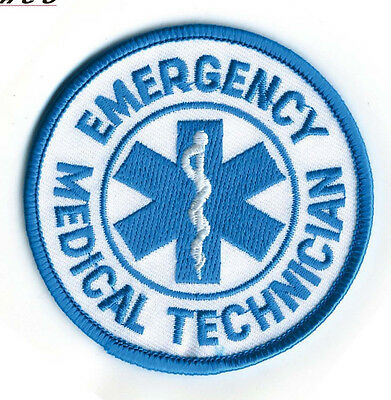 """Medic Patch EMT Emergency Medical Technician Round Patch Rescue 3"""" Diameter"""