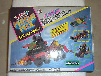 Vintage Playgo Multimac Mega Mix Galaxy Fighter Uas Friction Joiner Zoids Mib