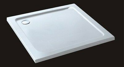30/40mm slimline square rectangle stone resin bathroom shower enclosure tray
