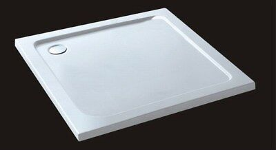 40mm slimline square rectangle stone resin bathroom shower enclosure tray