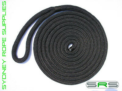 12Mm X 6Mtr Monaco Mooring Dock Line, Uv Treated Free Delivery Austwide