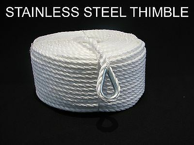 50Mtrs X 20Mm Pe Silver Anchor Rope