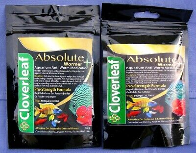 KUSURI WORMER PLUS TWO x 5g packs aquarium fluke, fish wormer & parasite killer.