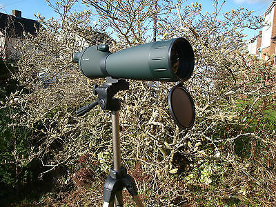 LUYI Level-eyepiece 25-115x80zoom Telescope/Spotting Scope with 2 tripods(S & L)