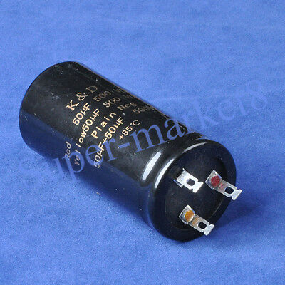 Can Eelectrolytic Capacitor 50uf + 50uf 500V Guitar Amp
