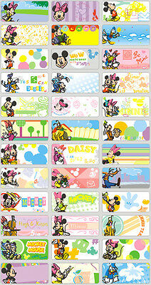 120 Micky Mouse pics personalised name label (Small size)