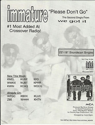 Marques Houston IMMATURE Trade Ad POSTER for We got CD