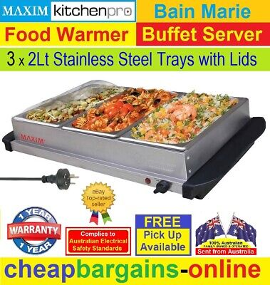 Food Warmer Server Buffer Server Bain Marie Plate Food Warmer Server Display New