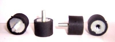 "4 Male / Female Rubber Isolator Mount 1/4-20 1"" x 3/4"""