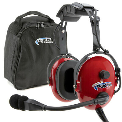 Rugged Air RA250 Youth Child Size General Aviation GA Headset w/ MP3 Music Input