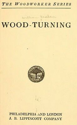 Wood Turning the Woodworker Series How to Lathe by William Fairham Book on CD
