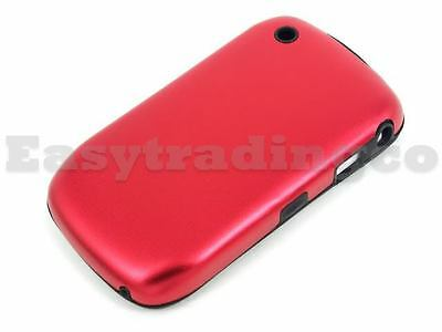 Red Aluminum Metal Case Blackberry 8520 8530 Curve 3G