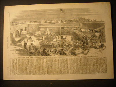 Fort Pickens  Engraving 1861