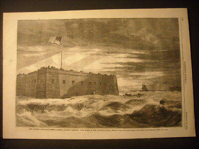 Fort Pickens, Florida Engraving 1861