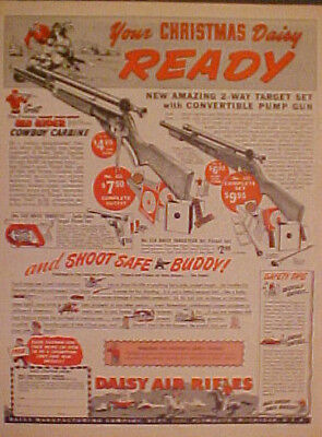 1950 Daisy BB Pump Gun Western Scouts Toy Air Rifle~CHRISTMAS PROMO TRADE AD
