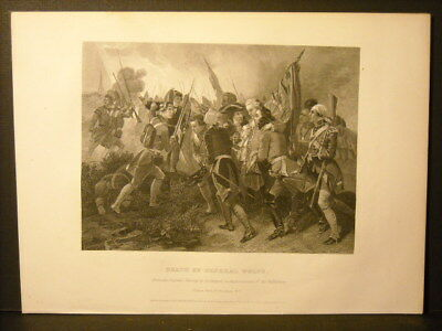 General Wolfes Death, Alonzo Chappel Engraving 1857