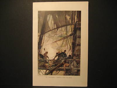Chesapeake During The Battle Color Lith by Aylward 1912