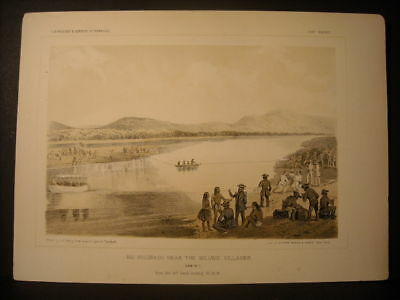 Mojave Village, J. J. Young color litho 1854