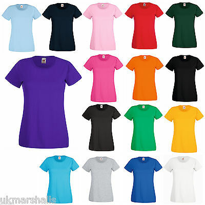 Fruit Of The Loom Ladies T Shirt Lady Fit 12 Colours