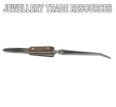 Jewellers Reverse Soldering Tweezers Jewellery Making - Bent Nose Version