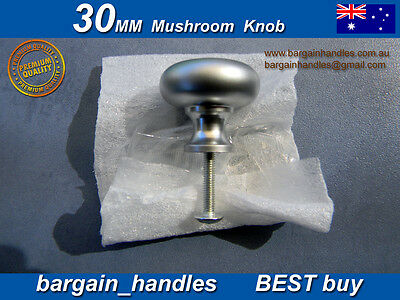 "Kitchen Cabinet doors,Drawers Knobs 1x30mm Satin Chrome Mushroom"" metal"""