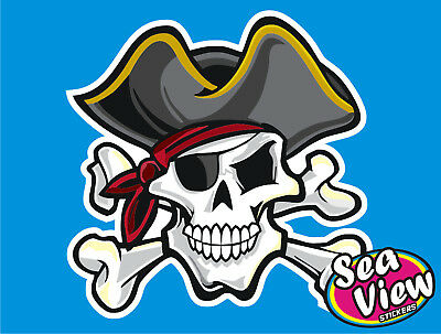18 x Pirate Skull & Crossbones Car Window Wall Stickers