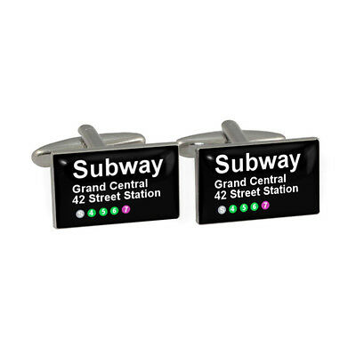 Subway Map Cufflinks.New York Subway Grand Central Cufflinks Cuff Links New