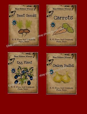 Farmhouse Primitive Style GARDEN Theme Labels     #225