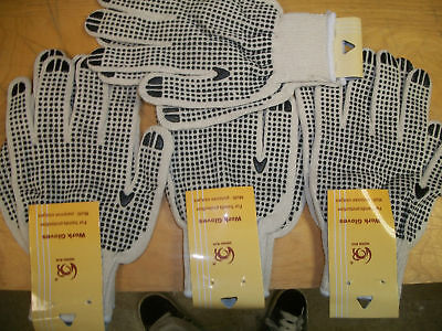 Double Dotted Cotton Knit Gloves 10 Pair
