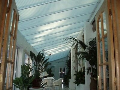 Pleated Roof Lean To Conservatory White & Cream Blinds