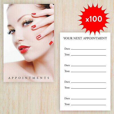 100 x Appointment Cards Manicure Nails Beauty Salon & storage box plus FREEPOST!