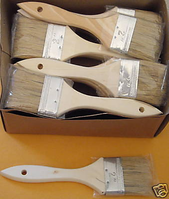 """432  China Natural Bristle 1.5"""" Chip Brush Paint Stain 1.5 inch brushes lot"""
