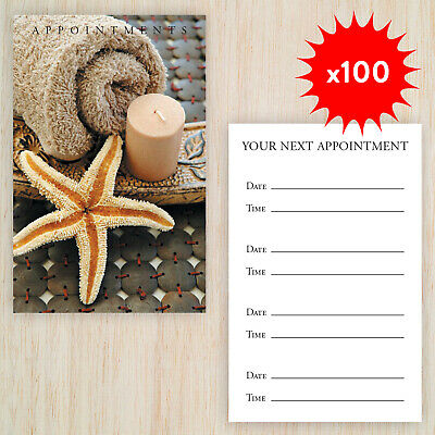 100 x Appointment Cards Spa Beauty Massage Therapy FREE storage box & Postage !
